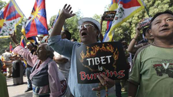 Tíbet grita contra China