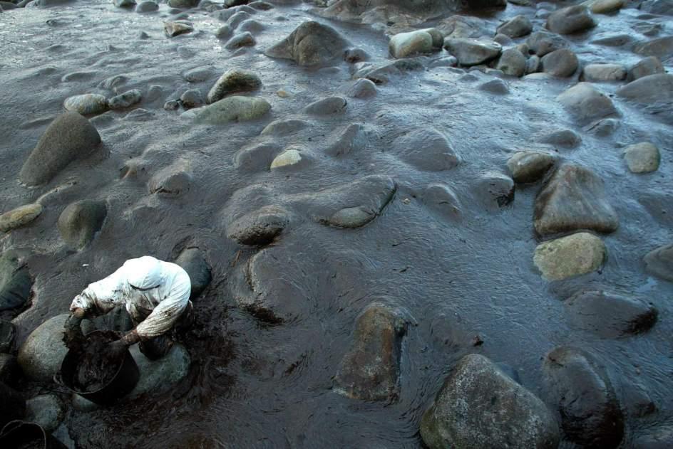 Resultado de imagen de Catástrofes medioambientales del hundimiento del prestige