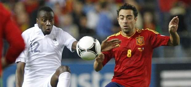 Xavi en el Espa�a - Francia
