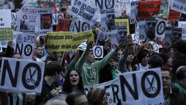 Protestas en Educación