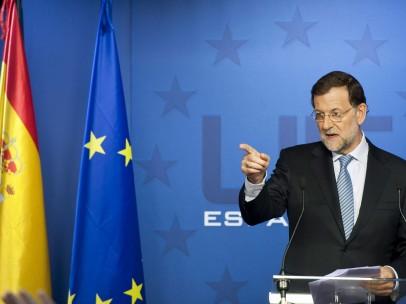 Rajoy habla en Bruselas