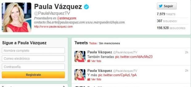 Twitter de Paula Vázquez