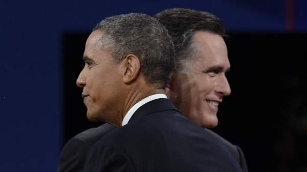 Obama y Romney, tras su último debate