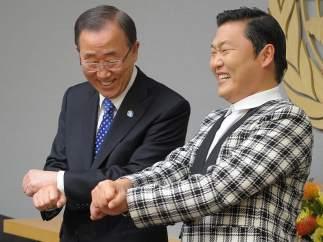 Ban Ki-moon también le da al 'Gangnam Style'
