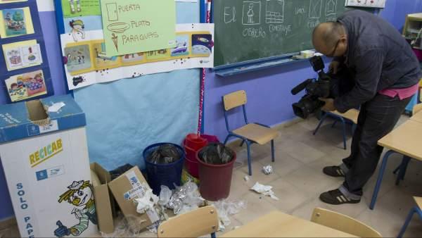 Huelga de limpieza en los colegios de Jerez