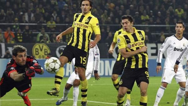 Casillas ante el Borussia Dortmund