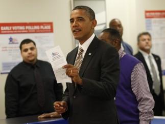 Obama vota por adelantado