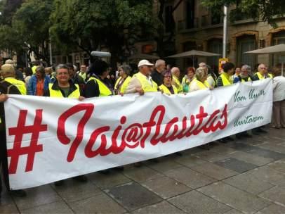 Manifestación de Yayoflautas
