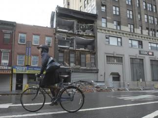 'Sandy' levanta fachadas en NY
