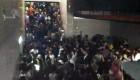 Colapso en un pasillo de Madrid Arena