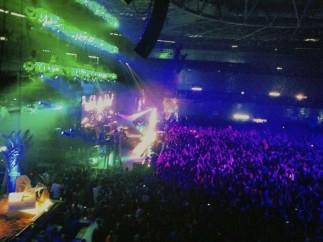 Interior de la fiesta en el Madrid Arena