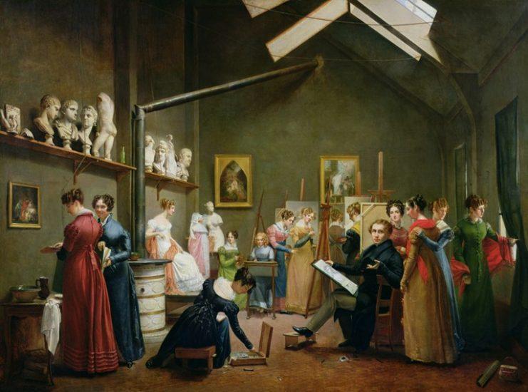'The Studio of Abel du Pujol'