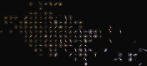 El mapa de 100 galaxias cercanas