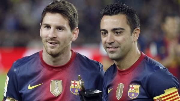 Messi y Xavi