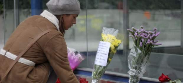 Flores por las v�ctimas del Madrid Arena