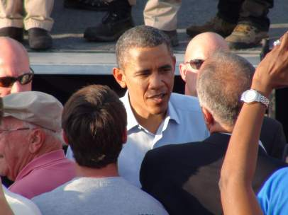 Barack Obama, en un acto en Hollywood