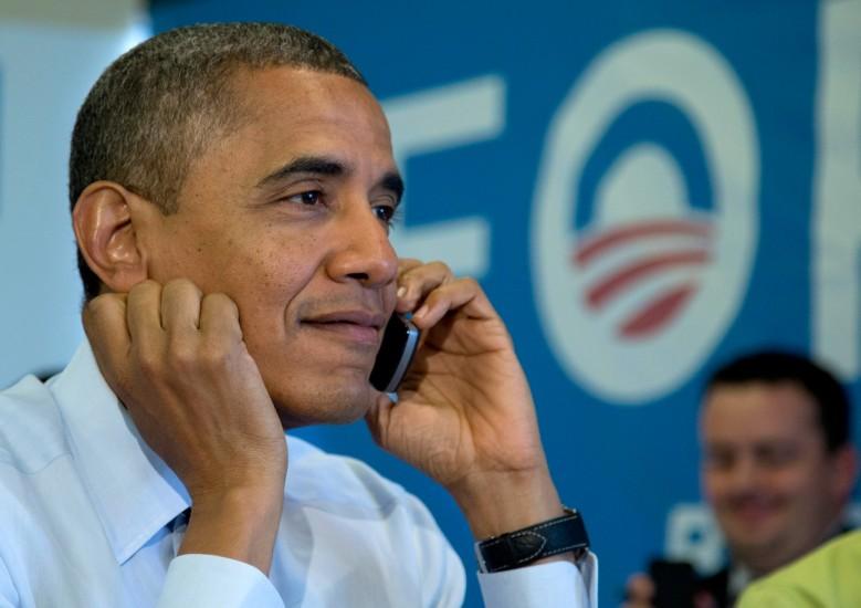 Obama se muestra relajado