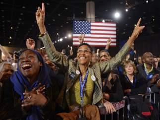 Alegría por la reelección de Obama