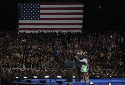 Obama celebra su triunfo
