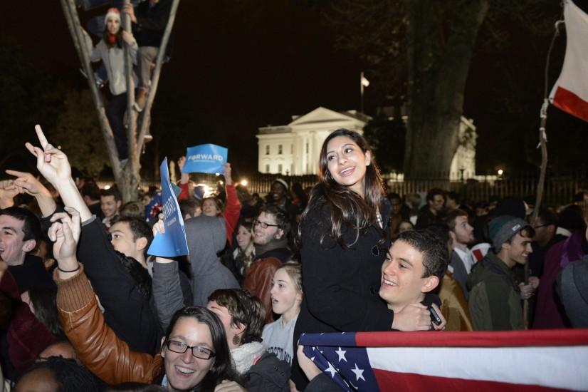 Celebraci�n frente a la Casa Blanca