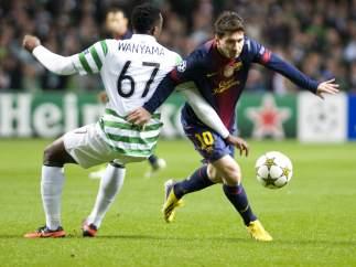 Messi ante el Celtic