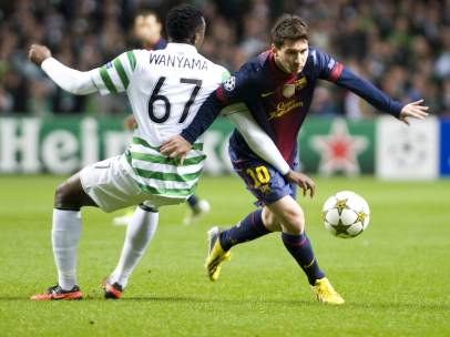 Messi ante el Celtic