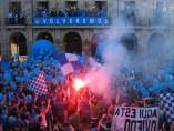 Celebración ascenso Oviedo