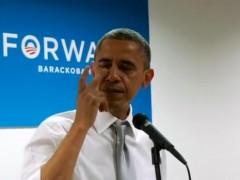 Obama, llorando