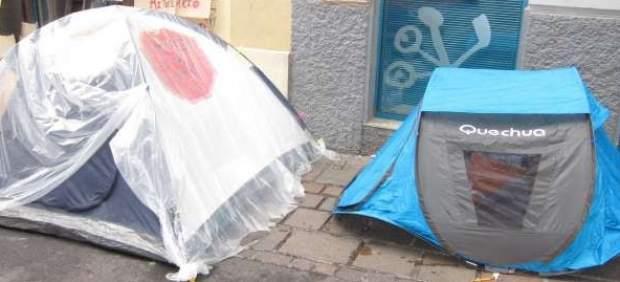 Campamento en apoyo de Carmen Omaña