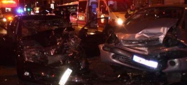Accidente en la Gran Vía de Madrid