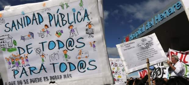Protesta en el Hospital del Henares