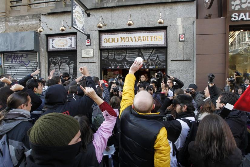 Piquetes en Madrid