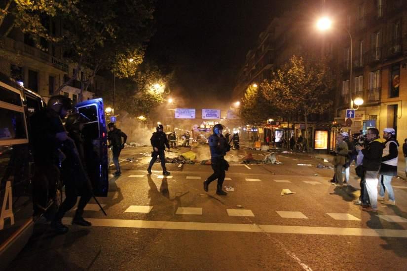 Antidisturbios en Atocha