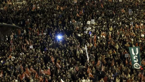 14-N: segunda huelga general contra Rajoy