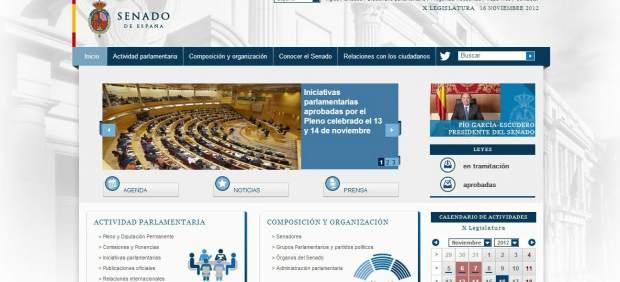 Web del senado