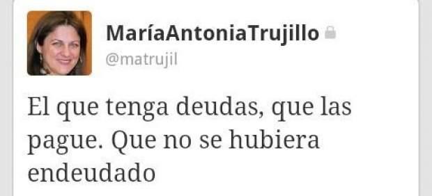 Tuit de María Antonia Trujillo