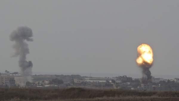 Bombardeo sobre Gaza