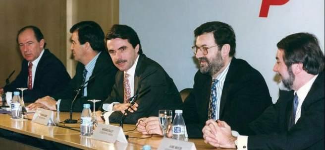 Aznar y Rajoy, en 1996
