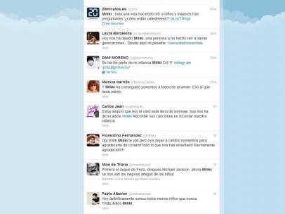 Mensajes en Twitter sobre Miliki
