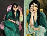 'Laurette in a Green Robe, Black Background' - 'Laurette Seated on a Pink Armchair'- 'Meditation (Portrait of Laurette)'