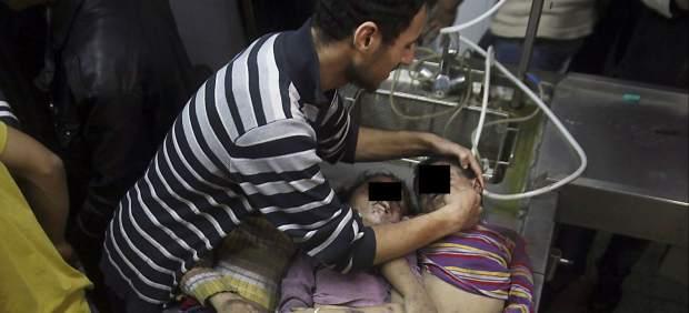 V�ctimas de bombardeos en Gaza