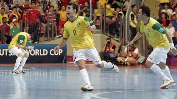 Neto en la final del Mundial de fútbol sala