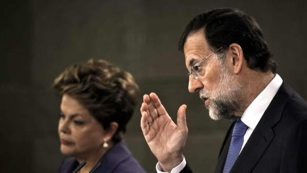 Dilma Rousseff y Mariano Rajoy