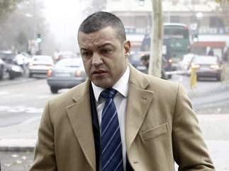 Miguel Ángel Flores, gerente de Diviertt, entrando a los juzgados de Plaza de Castilla