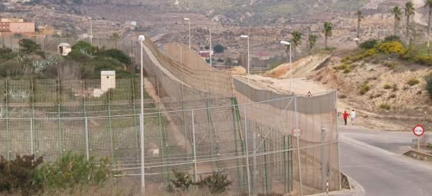Valla fronteriza en Melilla