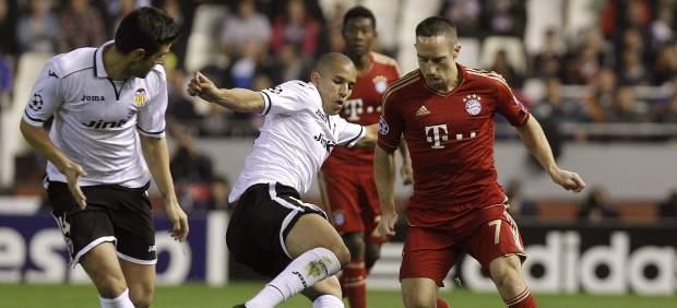 Ribery en el Valencia - Bayern