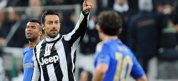 Quagliarella en el Juventus - Chelsea