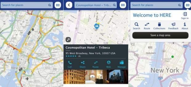 iOS recibe los mapas de Nokia