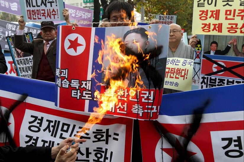 Protestas contra Corea del Norte