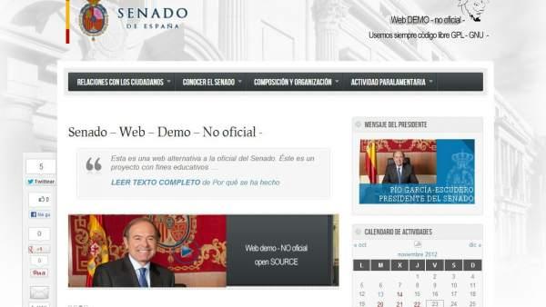 Clon de la web del Senado
